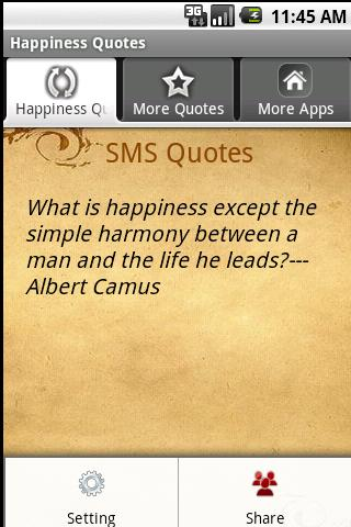 Happiness Quotes Android Books & Reference