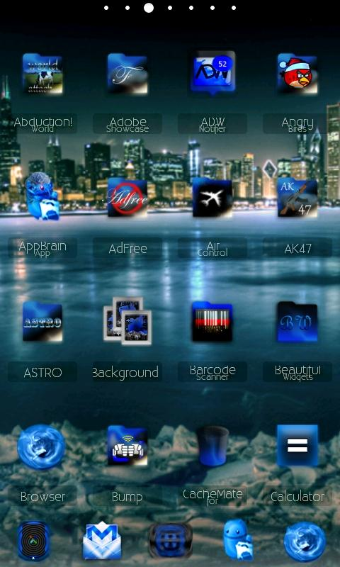 ADWTheme BlackIceADW Android Personalization