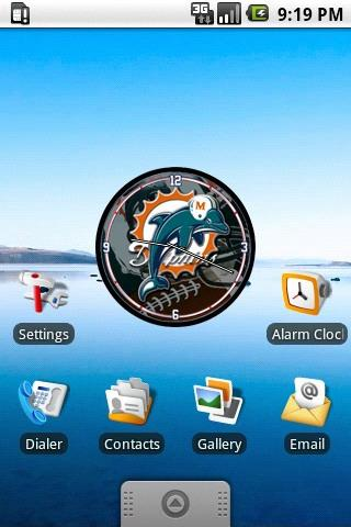 Miami Dolphins Clock Widget Android Personalization