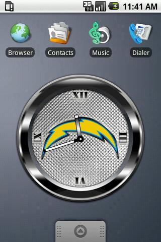 CHARGERS BLACK Clock Android Sports