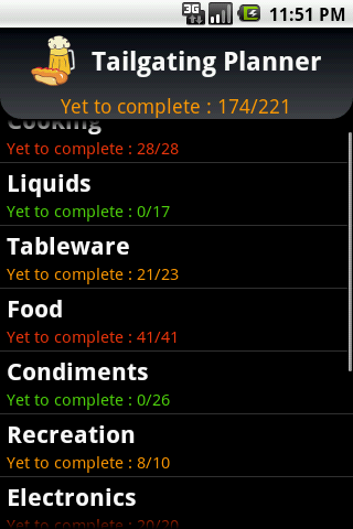 Tailgating Planner Android Lifestyle