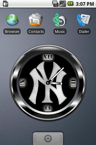 YANKEES BLACK Clock Android Personalization