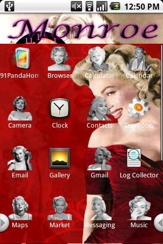 Marilyn Monore Theme Bonus Android Personalization
