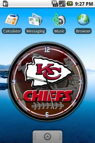 Kansas City Chiefs Clock Widg. Android Personalization