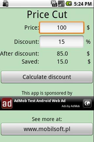 Price Cut Android Shopping