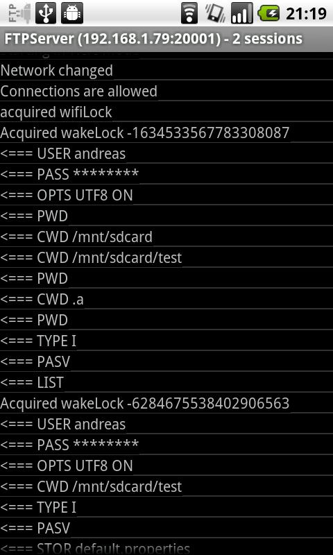 FTPServer Android Tools