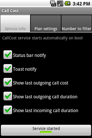 Call Cost 2 Android Tools