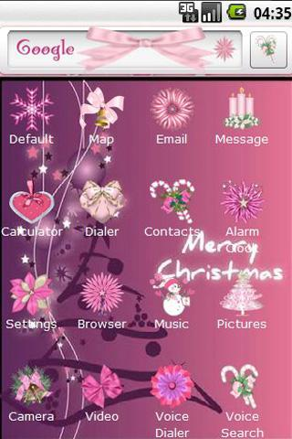 Christmas in Pink Android Personalization
