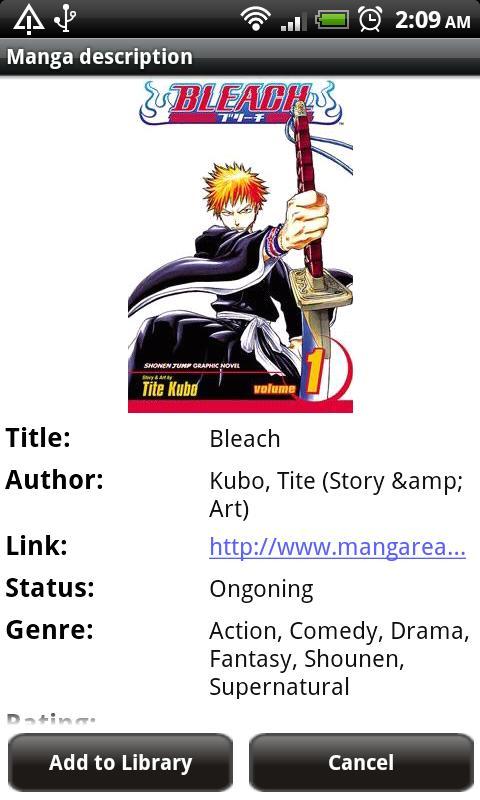 Manga Watcher Application Android Comics