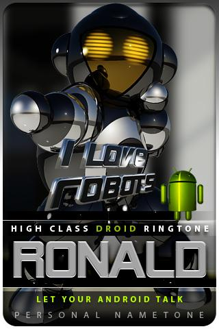RONALD nametone droid Android Lifestyle