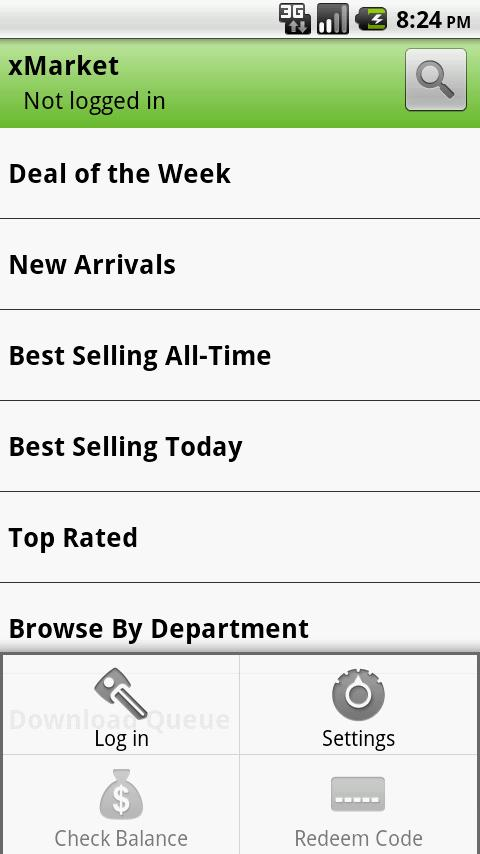 xMarket Android Shopping