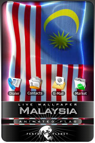 MALAYSIA LIVE FLAG Android Personalization