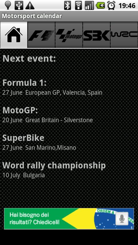 Motorsport calendar Android Sports
