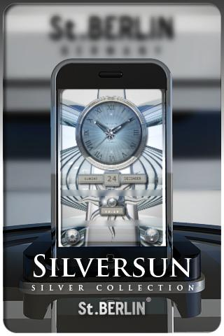SILVERSUN clock widget theme Android Lifestyle