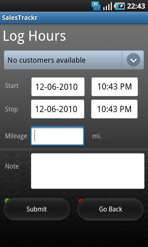 SalesTrackr Android Finance