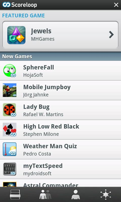 Scoreloop Android Social