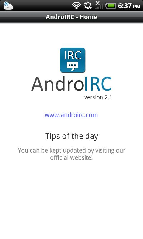 AndroIRC Android Communication