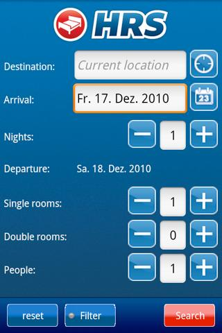 HRS Hotel Portal Android Travel & Local