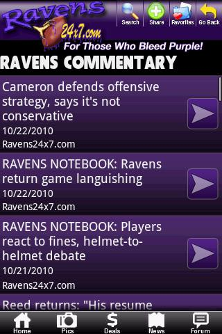 Baltimore Ravens Fan Zone Android Sports