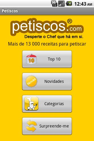 Petiscos Android Lifestyle