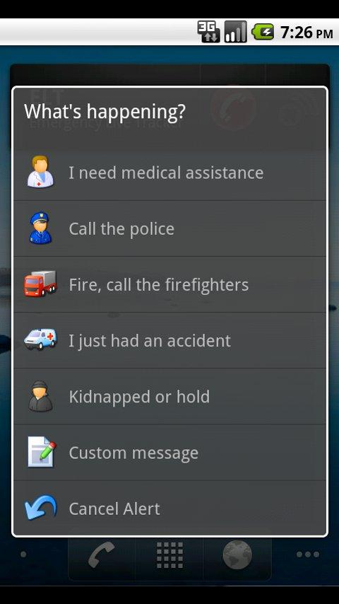 Emergency Live Tracker Android Communication