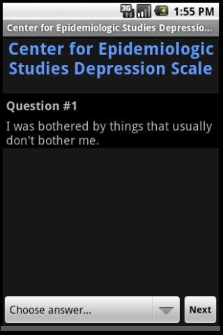 CES Depression Scale Android Health & Fitness