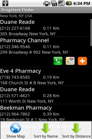 Drugstore Finder Android Health