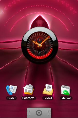 SPIDER  clock  widget Android Themes