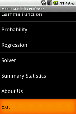 Mobile Statistics Professor Android Productivity