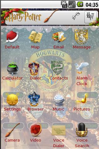 harry potter christmas theme android themes harry potter christmas theme android themes