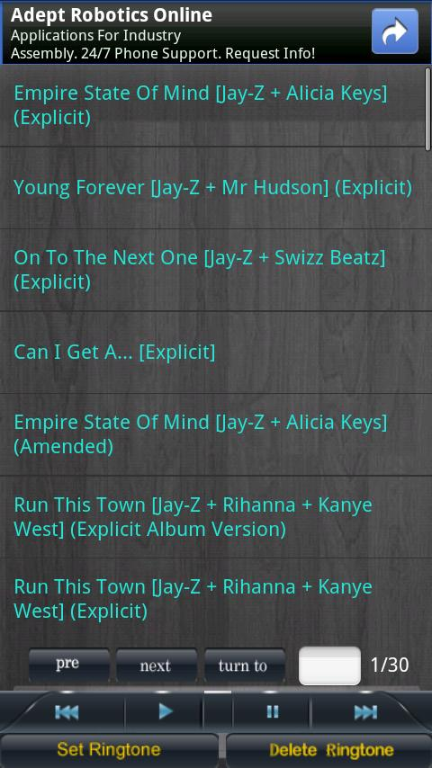 jay-z Ringtones Android Multimedia