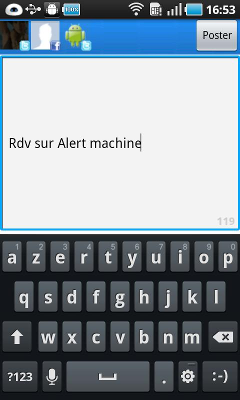 Alert Machine Android Social