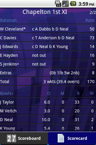 Total Cricket Scorer Lite Android Sports