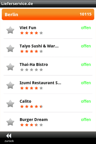Lieferservice.de Android Lifestyle