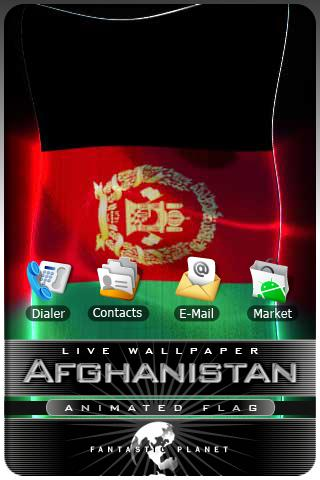 AFGHANISTAN LIVE FLAG Android Themes
