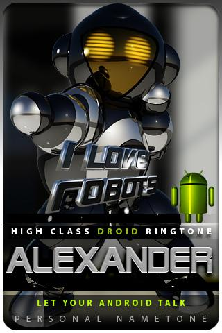 ALEXANDER nametone droid Android Lifestyle