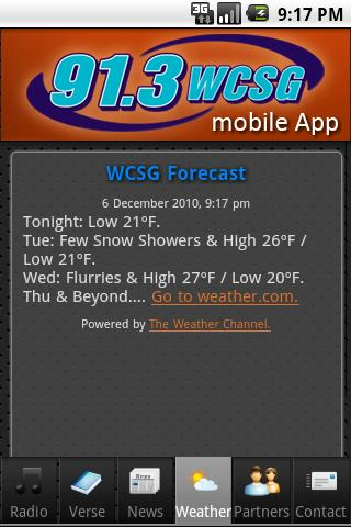 WCSG 91.3 Android Entertainment