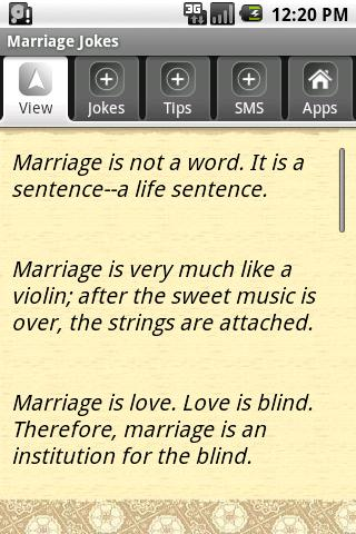 Marriage Jokes Android Social