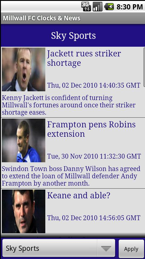Millwall FC Clock & News Android Sports