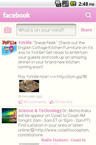 Facebook Pink Android Social