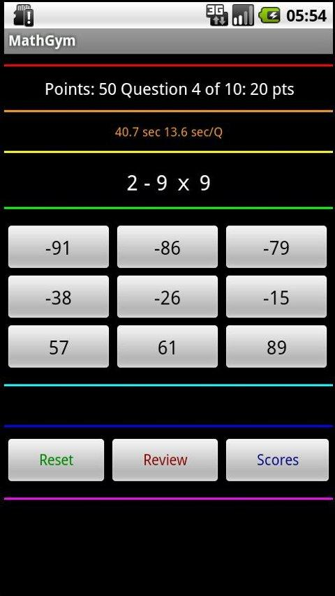 MathGym Android Productivity