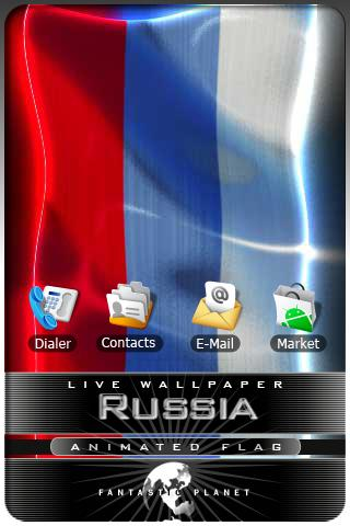 RUSSIA LIVE FLAG Android Entertainment