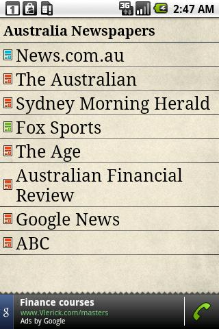 Australia Newspapers Android News & Weather