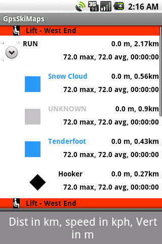 Gps Ski Maps USA/CAN 1 resort Android Sports