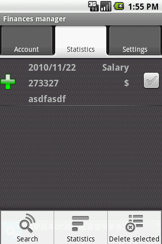 Finances manager Android Tools
