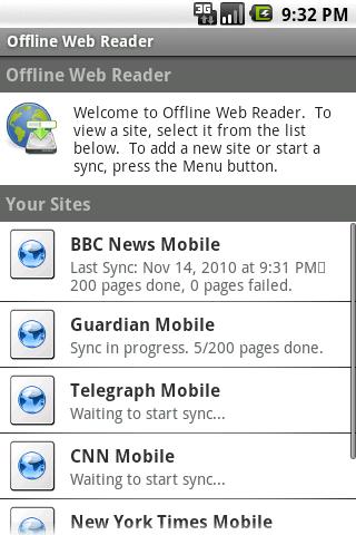 Offline Web Reader Android Reference