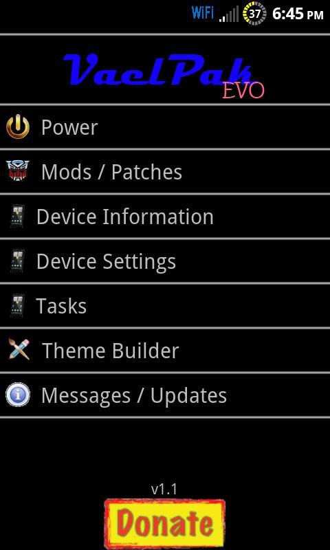 VaelPak Settings Android Tools