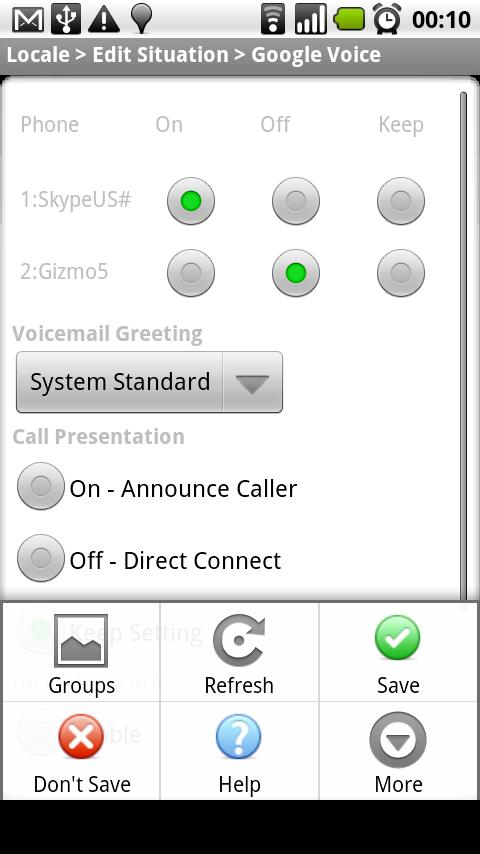 Locale Google Voice Set Plug Android Communication