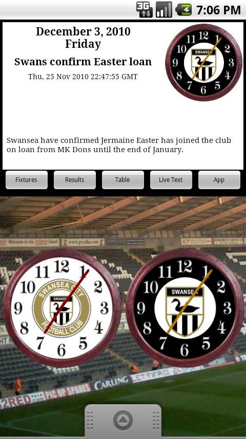 Swansea City AFC Clocks & News Android Sports
