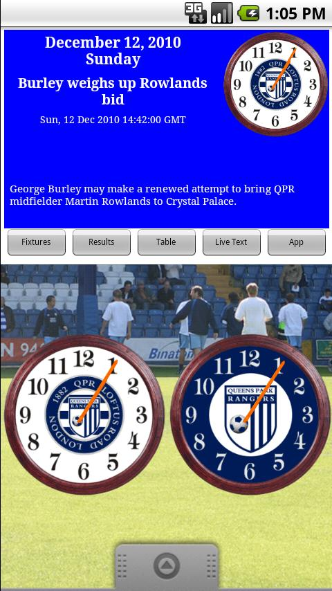 QPR FC Clock & News Android Sports